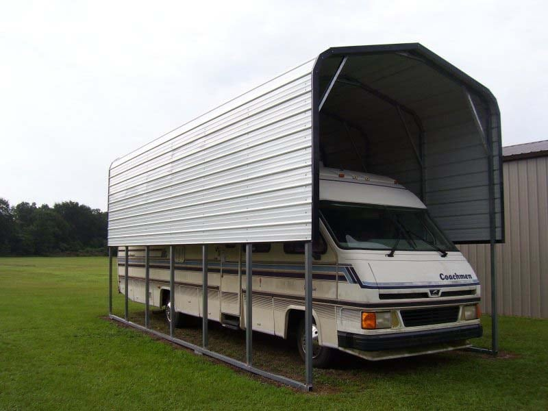 Regular Single RV Carport - JAW Portable Buildings