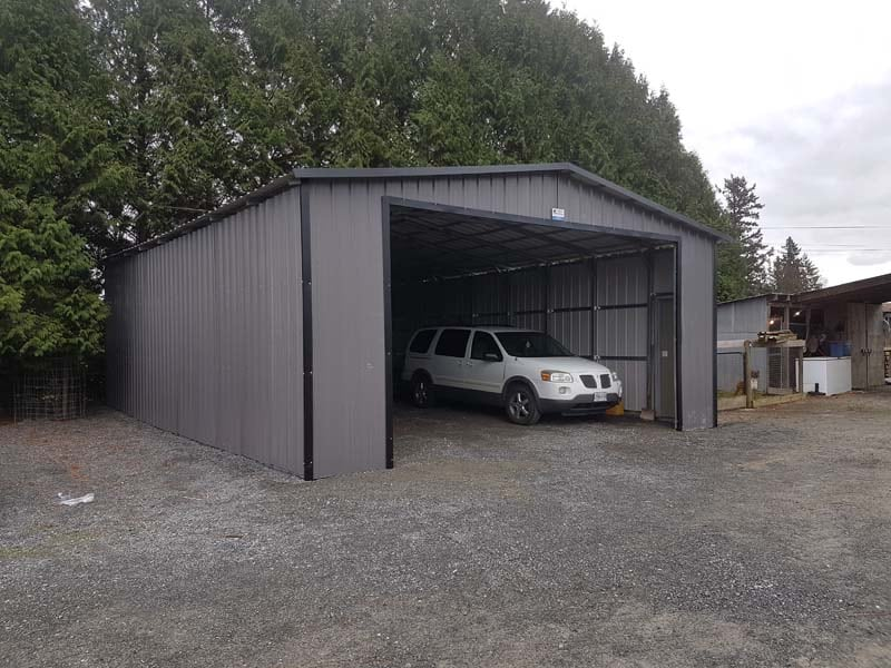 Metal Portable Car Garage - JAW Portable Buildings