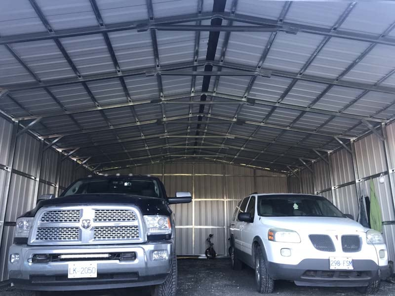 Automotive Shelter - JAW Portable Buildings