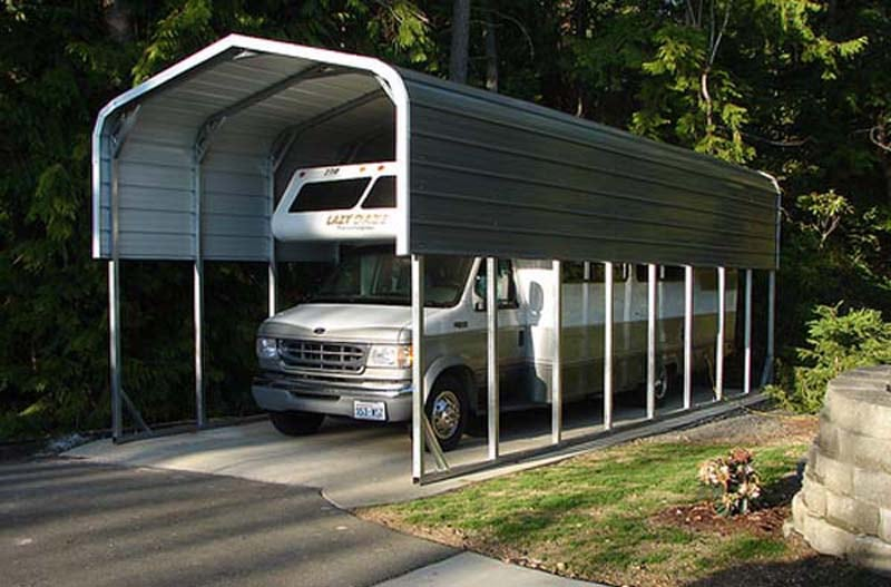RV Cover Shelter - JAW Portable Buildings