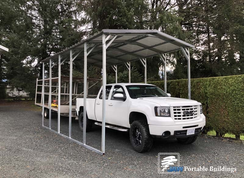 Metal Carport Shelters - JAW Portable Buildings
