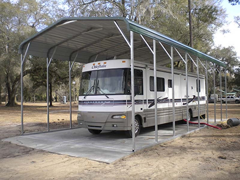 RV Cover Shelter Building - JAW Portable Buildings