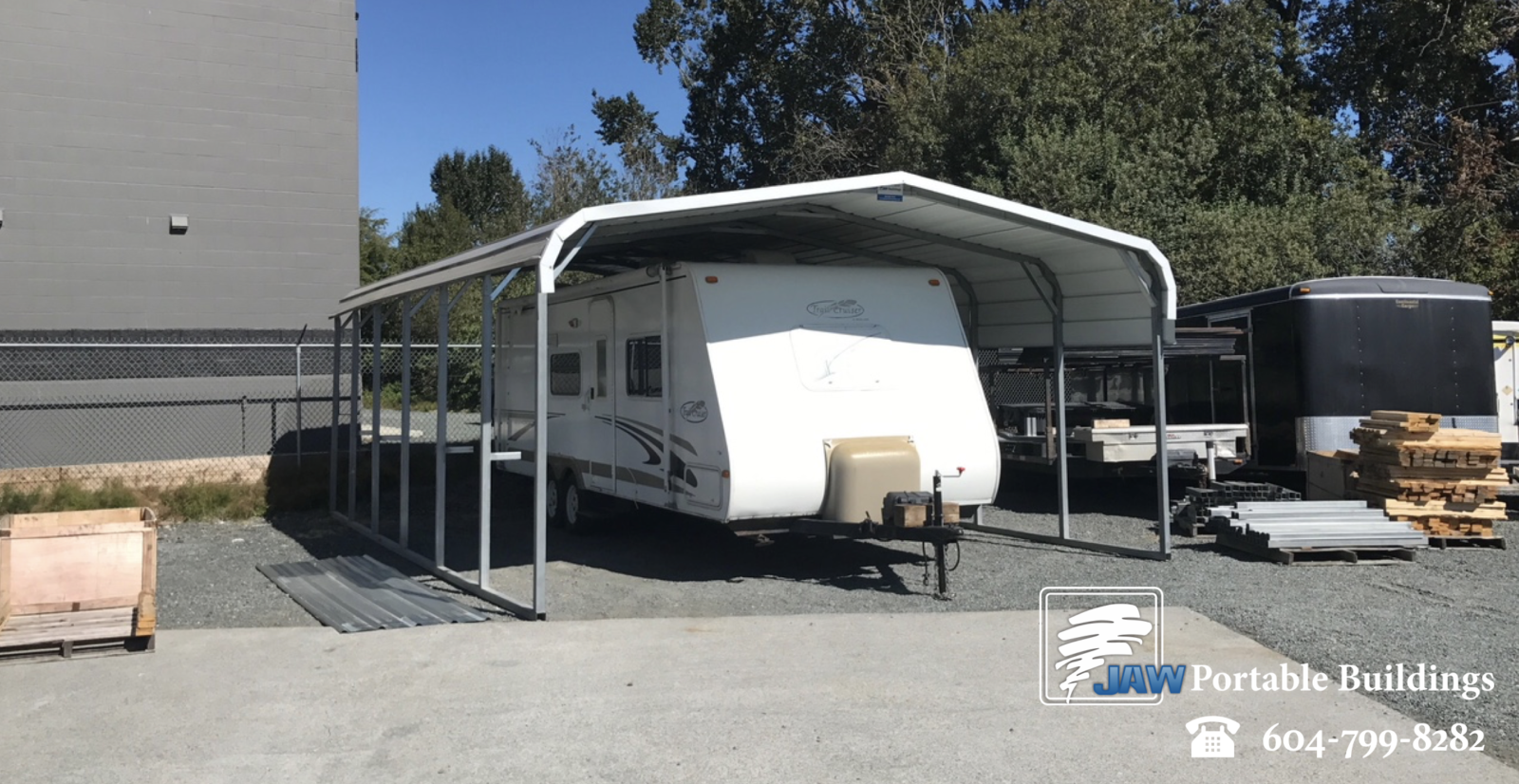 Portable RV Shelter - JAW Portable Buildings
