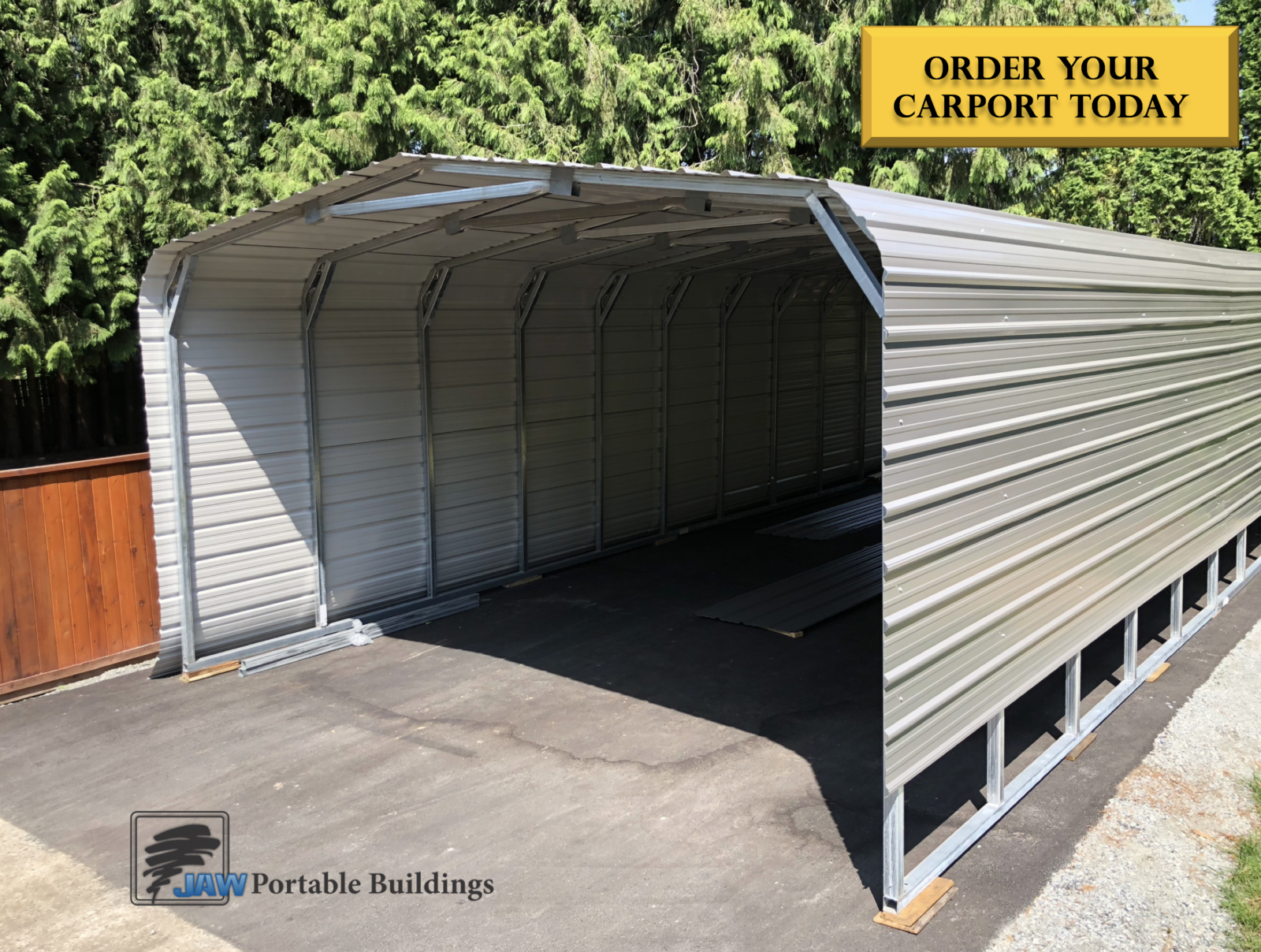 Permanent and Portable Carport Garage - JAW Portable Buildings