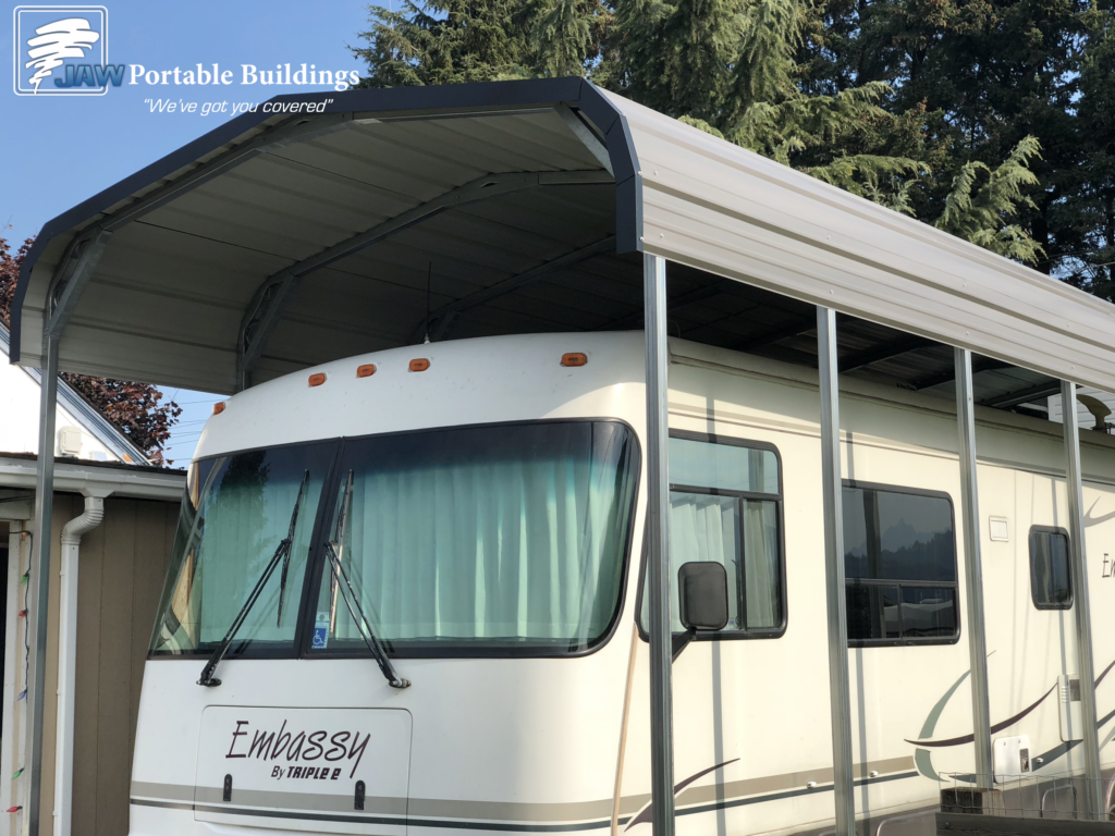 Customized RV Shelter Ideas - JAW Portable Buildings