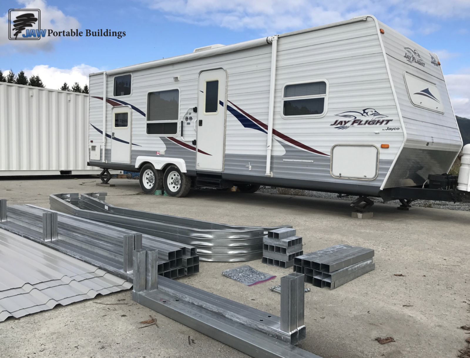 Portable Metal Travel Trailers - JAW Portable Buildings