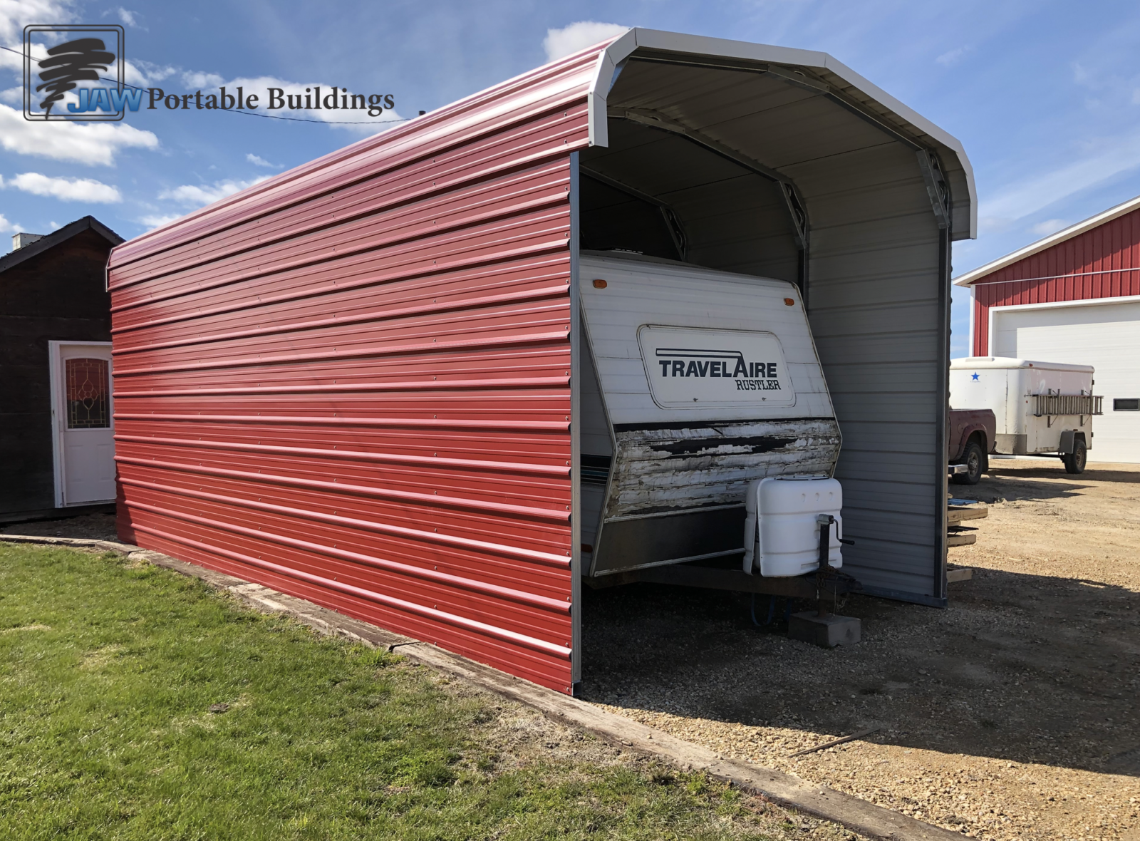 Customized Travel Trailer Shelter Ideas - JAW Portable Buildings
